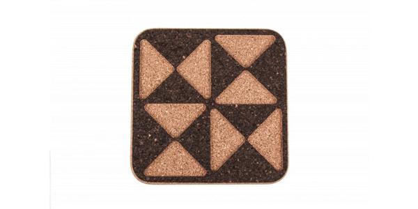 Rechthoekige kurken onderzetter driehoeken