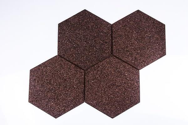 Zelfklevende zeshoekige bordjes negro