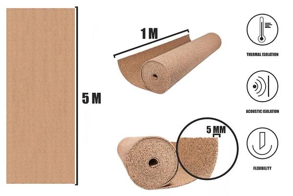 Kurk op rol 5mm (5m)