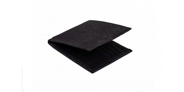 Portemonnee van zwart kurk