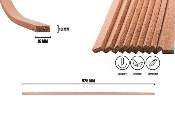 Dilatační korkové lišty 925x16x10mm