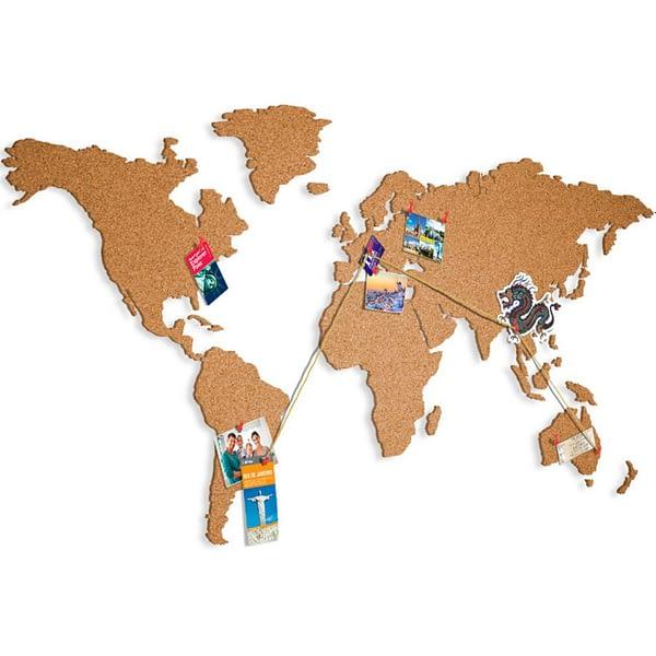 Mapa světa prírodná 140 x 75 cm