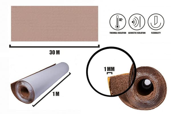 Samolepící korek role 1mm (30m)