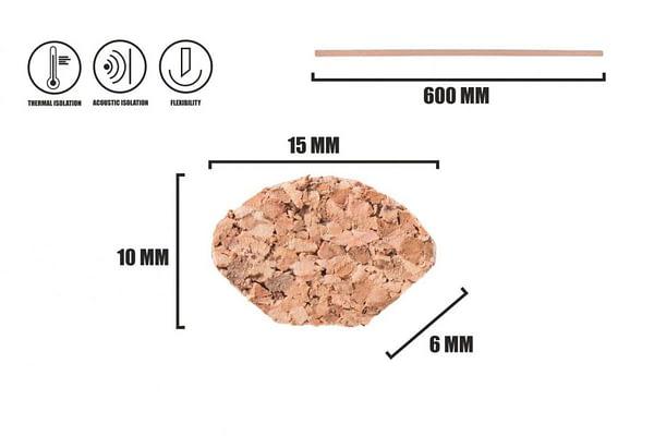 Korková dokončovací lišta kvadrant LP-4