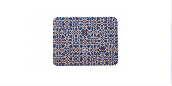 Obdélníková korková podložka modrá